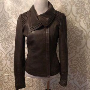 Mackage Brown Leather Jacket